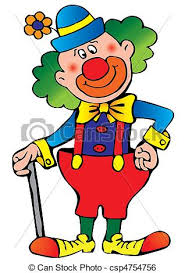 clown vector illustration on a white background clip