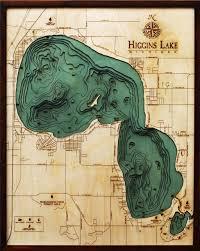 Lake Winnebago Map Midwest Wood Chart U2013 The Wooden Sailor Wood Charts Wood Maps