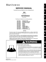 555 service manual crane machine calibration