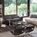Mixing Leather And Fabric Sofas National Furniture Supply Living Room Mediterranean With Mixing