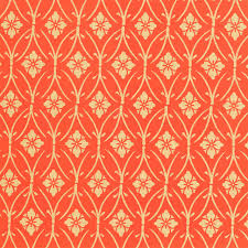 gift wrap silkscreen wrapping paper in orange