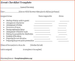 Planning Checklist Business Event Project by 5 Event Planning Checklist Template Bookletemplate Org