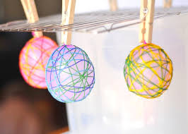 Easter Decorations With Balloons by Cool Craft String Easter Eggs Art For Kids And Robots