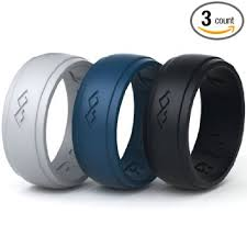 silicone wedding bands silicone wedding ring for men 3 rings set by rinfit