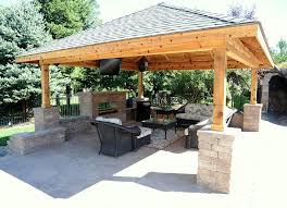 Backyard Pavilion Plans Ideas Back Yard Pavillions With Bar Custom Pavilion Contractor