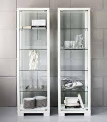 white glass storage cabinet incredible gorgeous design ideas glass door storage cabinet valeria