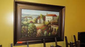 framed original oil painting u0027tuscan homes u0027 artist degos 47x35