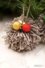 diy pom pom ornament tutorial easy christmas craft