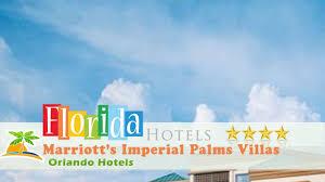 marriott u0027s imperial palms villas orlando hotels florida youtube
