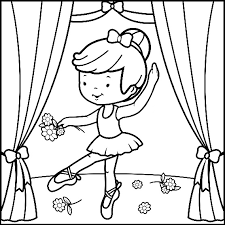 ballerina coloring pages coloringstar