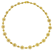 yellow diamond necklace images Fleur and round diamond necklace in 18k yellow gold amyn the jeweler JPG