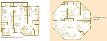 Bay Lake Tower Two Bedroom Villa Floor Plan Disney World Treehouse Villa Floor Plan U2013 Meze Blog