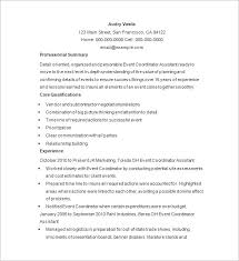 Excellent Resume Example by Inspiring Event Coordinator Resume Sample 94 On Best Resume Font