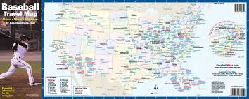 A Map Of The Usa Major League Baseball Map With All 30 Ball Clubs Showing Each A