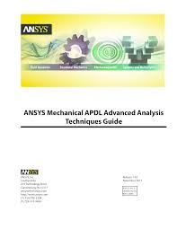 ansys mechanical apdl advanced analysis techniques guide documents
