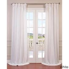 Ivory Linen Curtains White Linen Curtains Drapes For Less Overstock