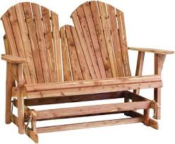 Free Wood Glider Bench Plans by New Style Adirondack Loveseat Glider Indiana Amish Bench