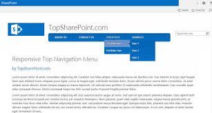 Top Bar Css Responsive Top Navigation Menu Best Sharepoint Design Examples