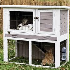 Bunny Cages Trixie Natura Animal Hutch With Enclosure In Gray U0026 White Petco