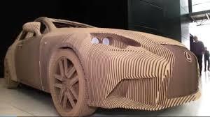 lexus jobs chicago lexus builds origami inspired cardboard car chicago tribune
