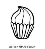 vectors of chocolate cupcake sketch icon patisserie emblem