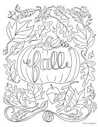 kids fall coloring pages kids fall printable fall coloring pages