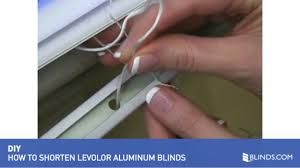 How To Shorten Vertical Blinds To Fit Window How To Shorten Mini Blinds Levolor Aluminum And Vinyl Blinds