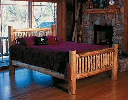 Log Bedroom Furniture Cedar Log Bed Kits Headboard Only Rustic Furniture Mall By