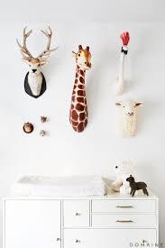 taxidermy home decor stuffed animal trophy heads plush head wall mount best organize