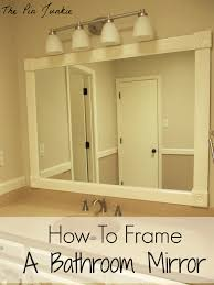 Framed Bathroom Vanity Mirrors Frame A Mirror With Molding 127 Beautiful Decoration Also Framing
