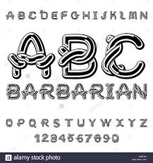 barbarian font norse ornament celtic abc traditional