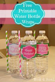 free printable happy birthday water bottle label wraps bottle