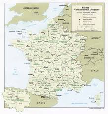 France Italy Map by