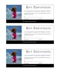 fun certificate templates free one day kids gift certificate template templates at