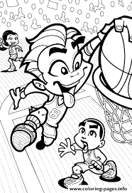 cartoon basketball goal s6ad7 coloring pages printable