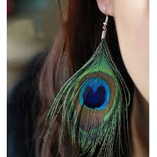 peacock feather earrings 10 pairs lot hot ethnic peacock feather earrings for women