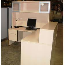 Used Office Desk Maple Receptionist Desk With Hutch Office Furniture