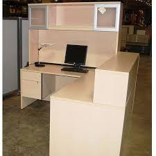 Hon Reception Desk Maple Receptionist Desk With Hutch Office Furniture