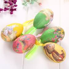 easter eggs sale colorful 6pcs foam easter eggs hanging crafts ornaments decor hot