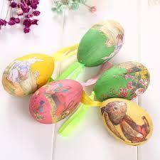 easter egg sale colorful 6pcs foam easter eggs hanging crafts ornaments decor hot