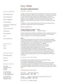 Vita Resume Example by Plush System Administrator Resume 7 Systems Cv Sample Resume