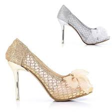 gold shoes for wedding gold silver glitter lace with flower stilettos high heels