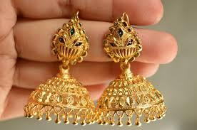 bridal jhumka earrings did you like these south indian bridal jhumka earrings