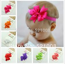 diy baby hair bows chic girl hair bow headband diy satin ribbon big bow elastic