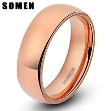 wedding bands design brand design women s classic 6mm gold titanium rings dome
