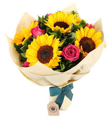 sunflower bouquets mixed roses n sunflowers bouquet nly u