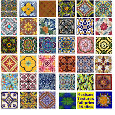 mexican tiles oh look at the pretty colors and designs to paint