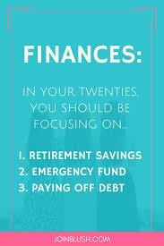 five things to focus on during your twenties personal finance