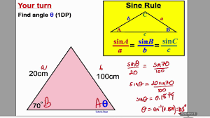 sine and cosine rule 1 gcse higher maths tutorial 17 youtube