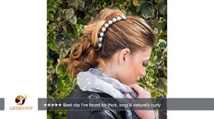 banana comb hairzing pearl s t r e t c h banana hair comb hair accessory